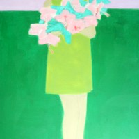 Paget Girl, Pink Hibiscus and Green