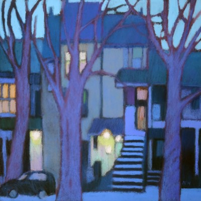 Susanne Strater - Along Parc Lafontaine at Dusk I