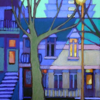 Susanne Strater - Along Parc Lafontaine at Dusk II