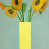 Sunflowers & Lemon Yellow Vase