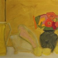 Yellow Pitcher, Conch Shell, Lemons, and Flower