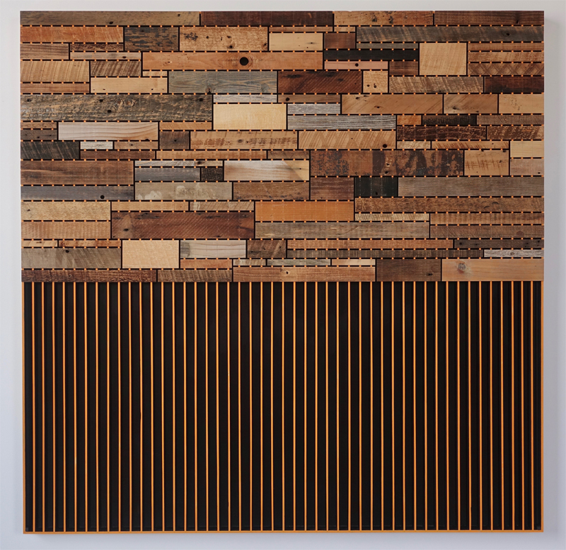 Wood Wall Orange