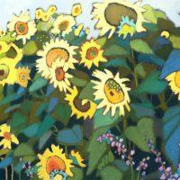 Cool Sunflowers Warm Green