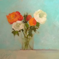 Ranunculus Orange and White