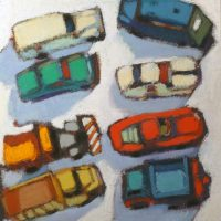 Matchbox Cars Arranged