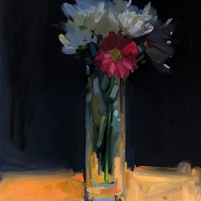 Gerbera and Daisies Tall Vase