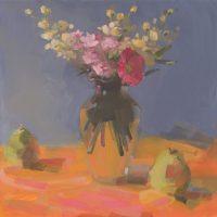 Bright Bouquet and Pears