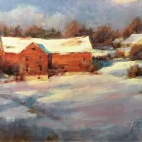 Red Barn, Winter Morning