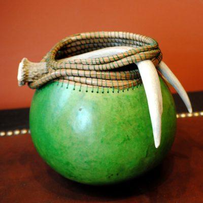 Margie Reck - Green Antler Gourd 8