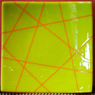 Marty Podolsky - Geometric Lime Platter