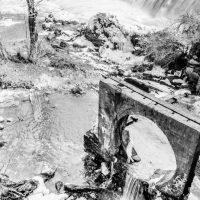 Otter Creek Falls, B&W
