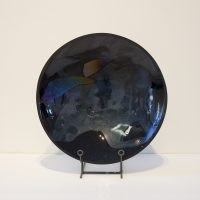 Black Iridescent Bowl
