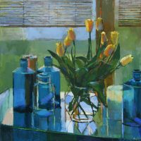 Apothecary and Yellow Tulips