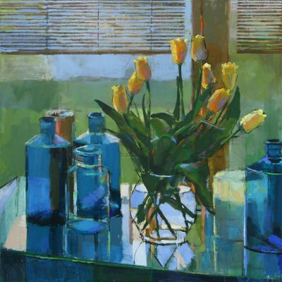 Apothecary & Yellow Tulips