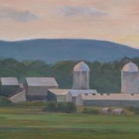 "Tracy Baker-White ""Hazy Morning, Dairy Farm"""