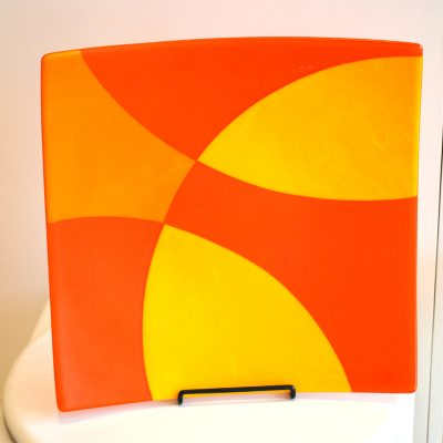 Orange & Yellow Square Platter