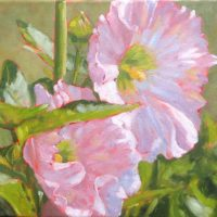 "Rae Newell ""Hollyhocks"""