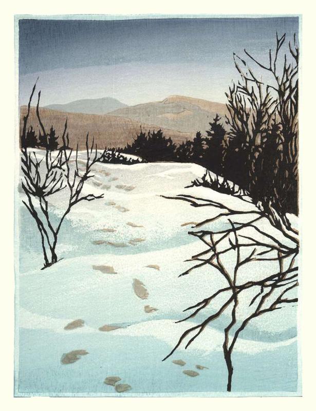 Footprints on Lambert Ridge, 2nd State