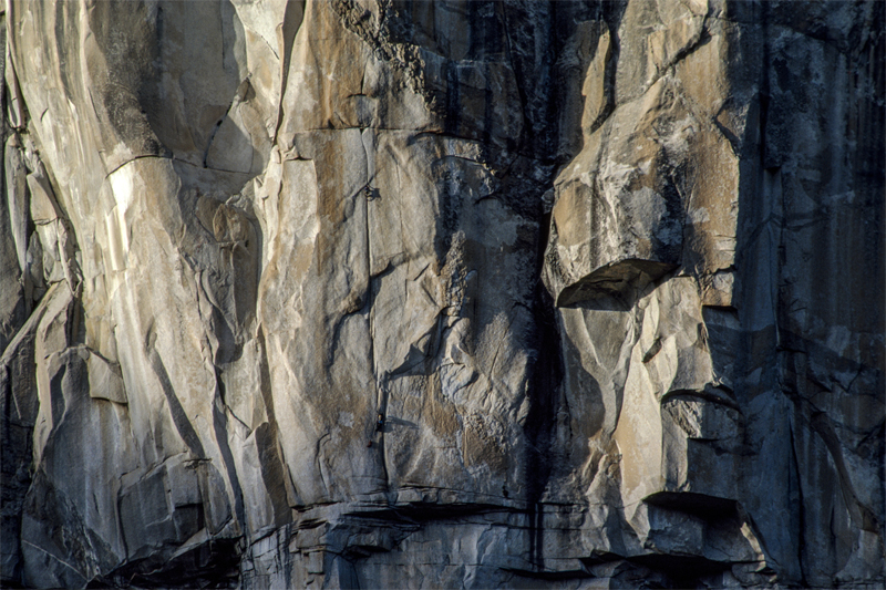 Two Climbers on Half Dome, California