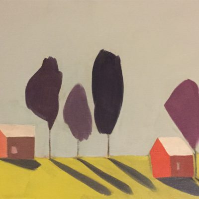 Four Trees and Two Barns
