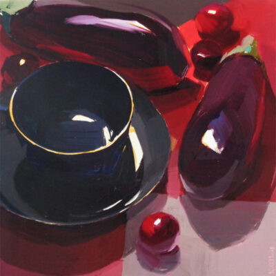 Black Still Life with Red