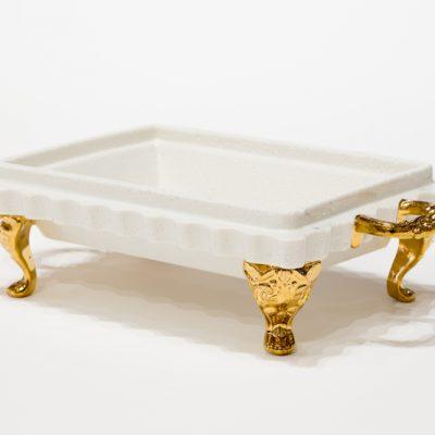 Styrofoam platter with handles
