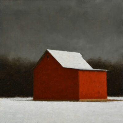 Ted Walsh - Red Barn with White Snow