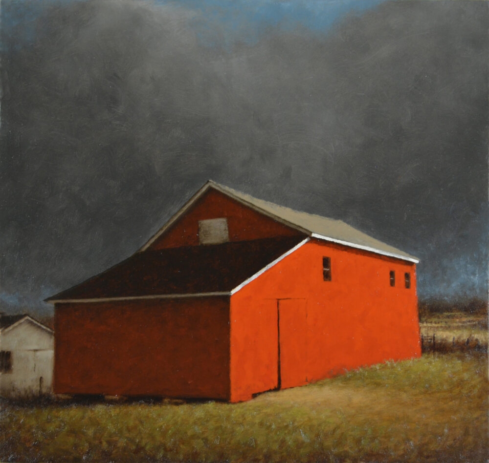Ted Walsh - Red Barn with White Trim