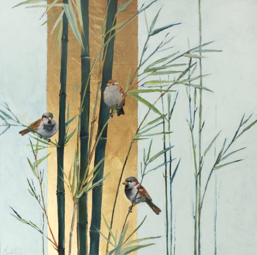 Ellen Granter - Sparrows in Bamboo