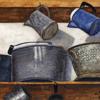 Helen Rietz -Blue Coffee Pot