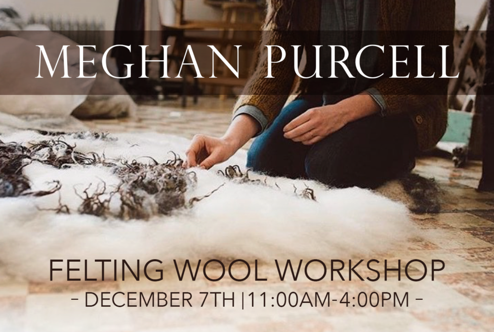 Meghan Purcell Felting Wool Workshop