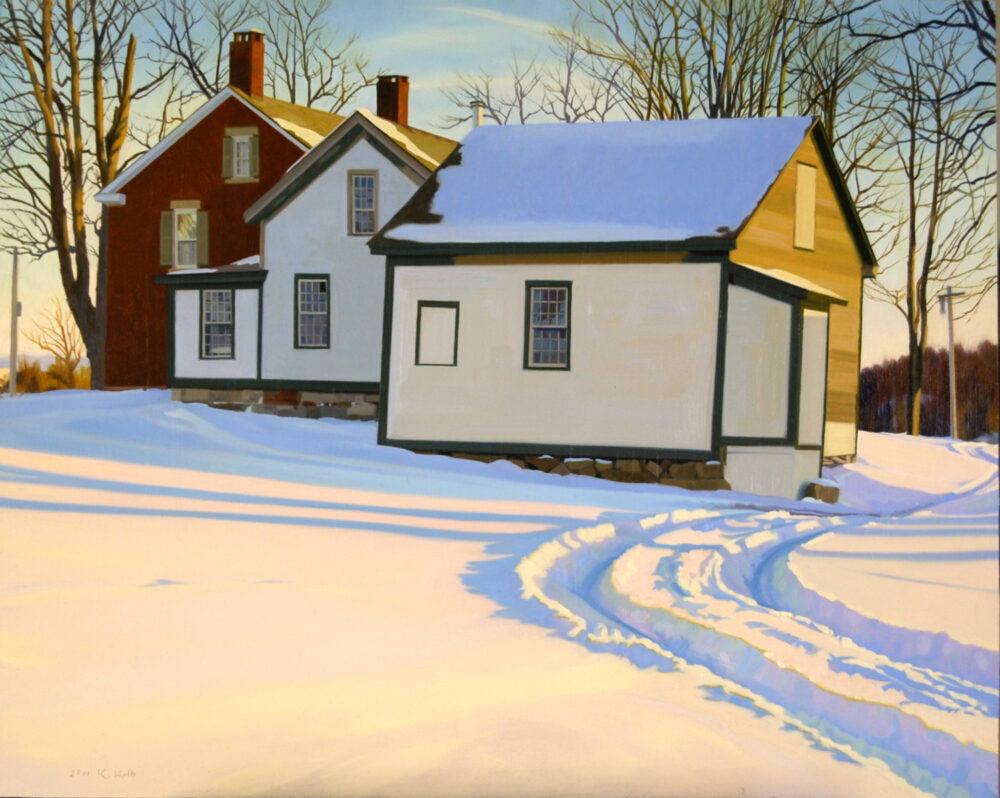 Kathleen Kolb - Brick House Winter Afternoon