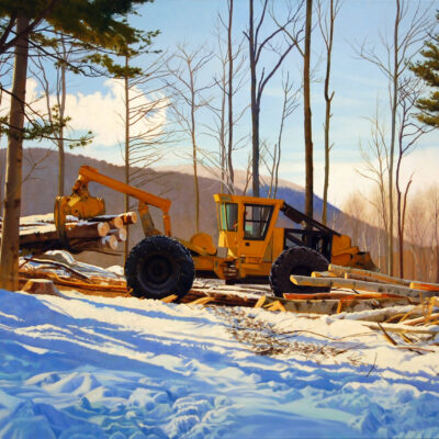 Kathleen Kolb - Grapple Skidder Winter Morning