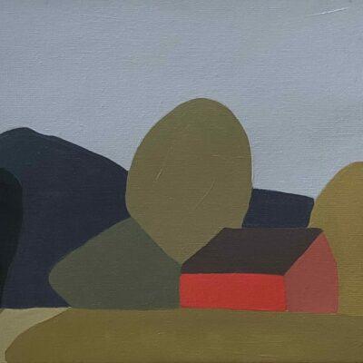 Sage Tucker-Ketcham - Red Barn, Three Hedges, One Tree