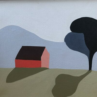 Sage Tucker-Ketcham - Red Barn, Two Trees, Two Shadows