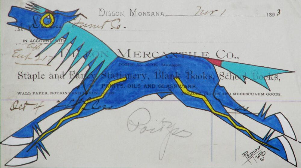 John Pepion - Blue War Pony