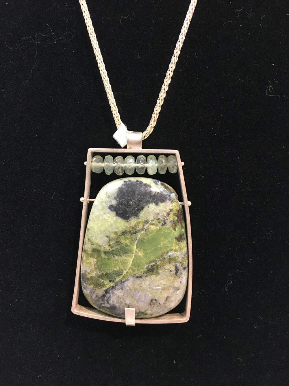 Ashka Dymel - Green Collage Necklace