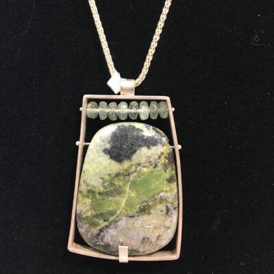 Ashka Dymel - Green Collage Necklace