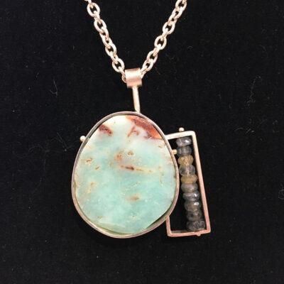 Ashka Dymel - Green Oval Necklace