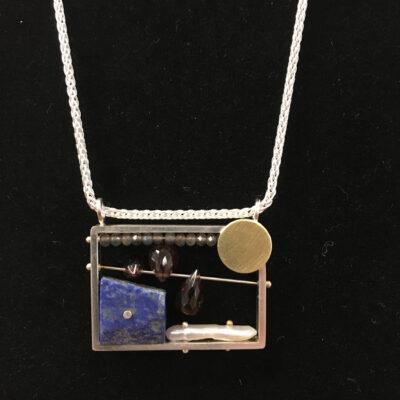 Ashka Dymel - Horizontal Rectangle Frame Necklace