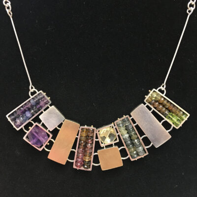 Ashka Dymel - Rectangular Cage Necklace
