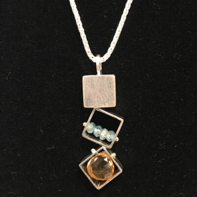 Ashka Dymel - Small Square Necklace