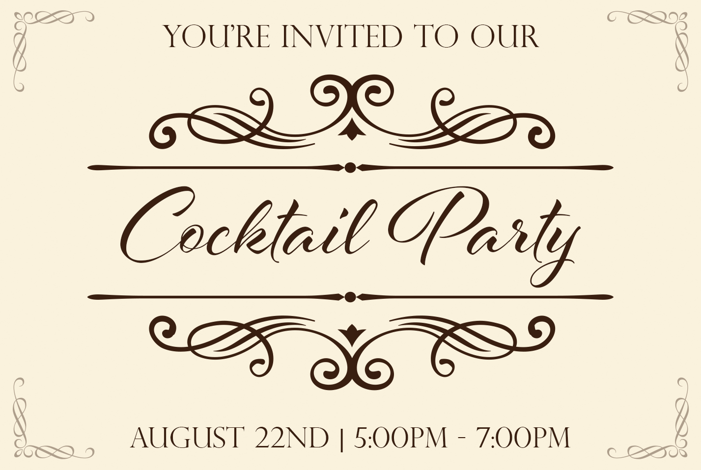 Cocktail Party Event page picture