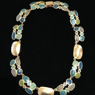 David Urso - Large Stack Bronze Necklace