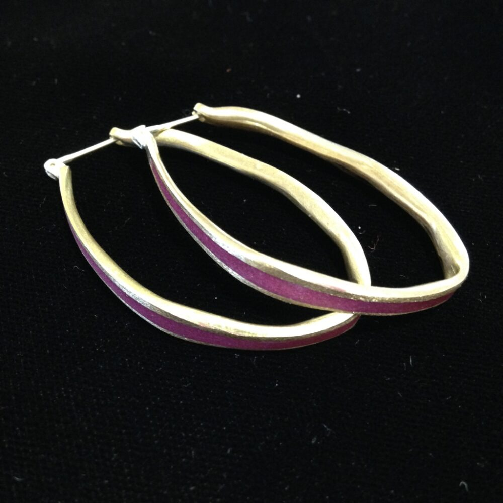 David Urso - Medium Oval Hoop Bronze