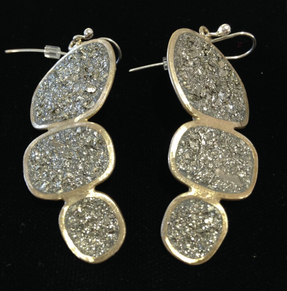 David Urso - Trio Pyrite Earrings