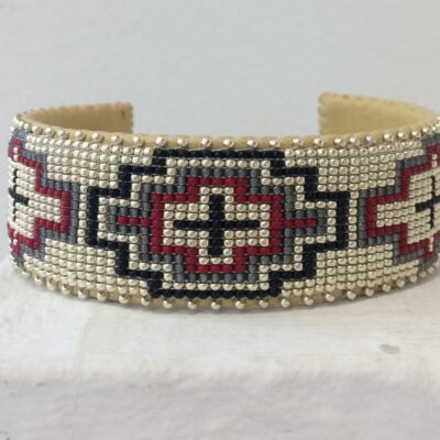 Wren Red Glass Cuff - Large