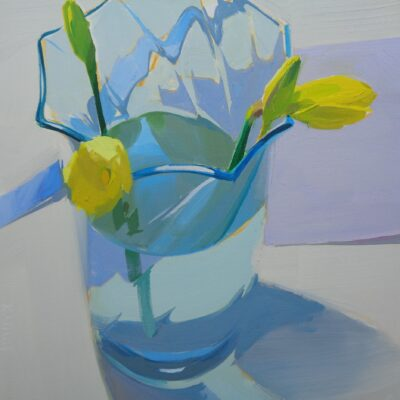 Karen O'Neil - Early Spring Series #3, Blue Glass