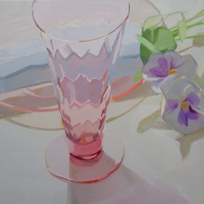 Karen O'Neil - Early Spring Series #4, White Viola