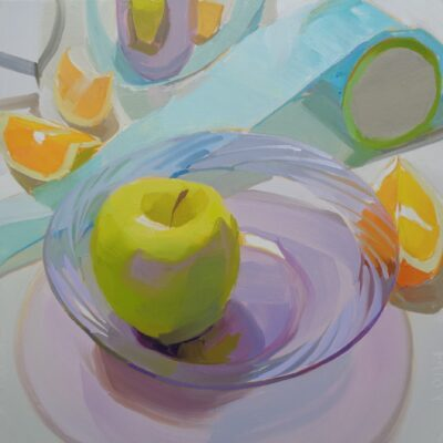 Karen O'Neil - Kitchen Still Life Series #15, Violet Glass